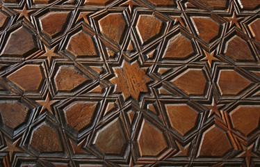 Wooden Door Detail,Uc Serefeli Mosque,Edirne,Turkey