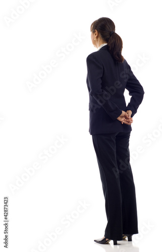 Senior Asian Business Woman from the Back
