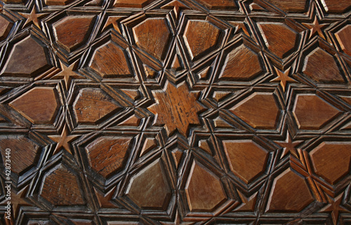 Wooden Door Detail,Uc Serefeli Mosque,Edirne,Turkey