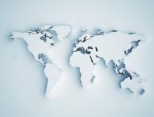 Carte du monde en 3D