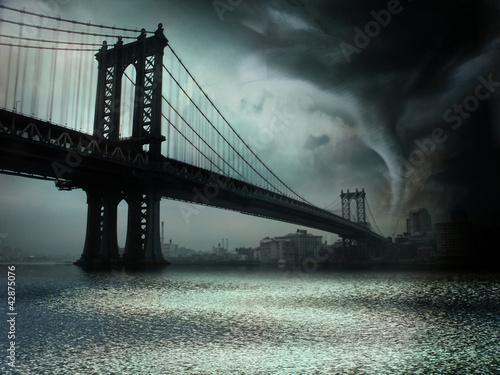 Fototapeten,tornado,wirbelsturm,gefahr,manhattan