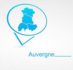 auvergne région de france dans signet bleu