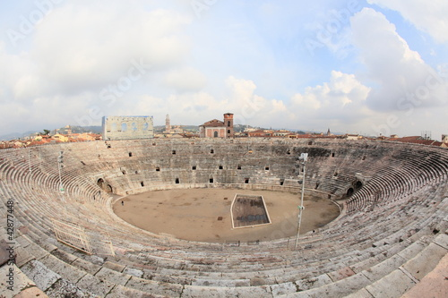 ancient arena of Verona, Italy