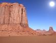 soleil sur monument valley