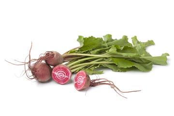 Fresh raw Chioggia beets