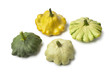 Four types of Pattypan Squash