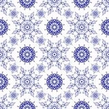 Admirable square blue pattern on a white background. Seamless