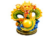Chinese style dragon statue isolated.