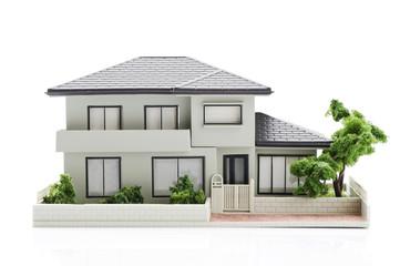 白背景に家の模型