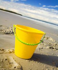 Bucket at the beach