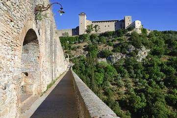 La Rocca vista dal Ponte delle Torri, Spoleto, Umbria