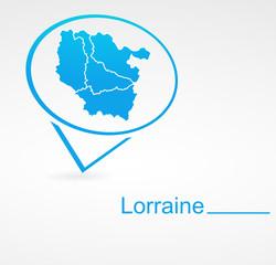 lorraine région de france dans signet bleu