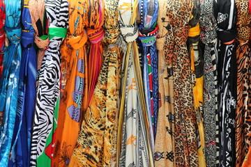 Colorful silk shawls