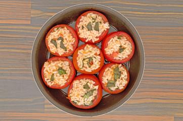 pomodori e riso al forno