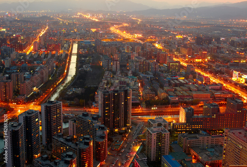 Foto op Aluminium Beijing Beijing cityscape