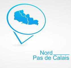 nord pas de calais région de france dans signet bleu