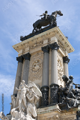 Monument to King Alfonso XII, Retiro Park, Madrid, Spain