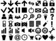 Set of pictograms of black color
