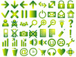 Set of pictograms of green color