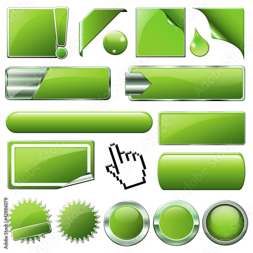 green button-set