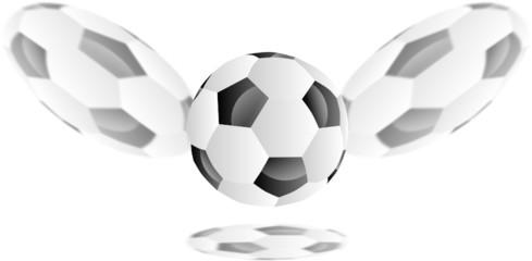 piłka  nożna i cienie