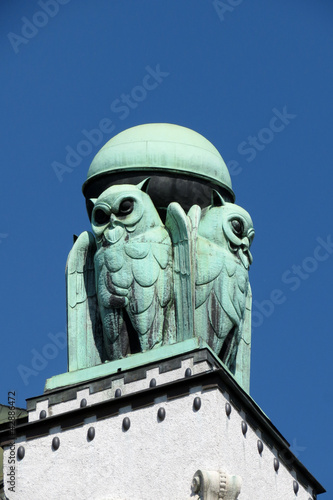 Owl, architectural detail