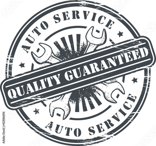 Car service grunge stamp, vector illustration