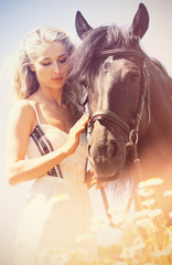 Beauty with horse