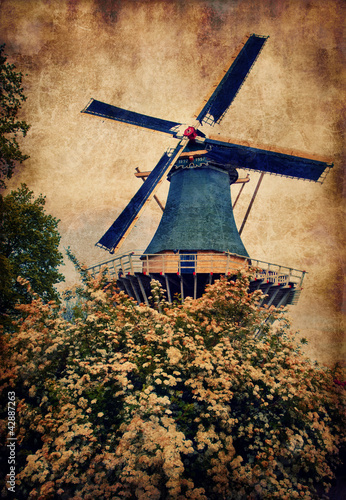 Old mill in Keukenhof