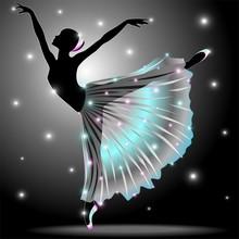 Ballerina Ballett-Tänzer Stern-Tanz-Classic-Vektor
