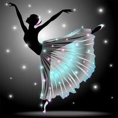 Ballerina Danza Classica-Classic Dance Star Dancer-Vector