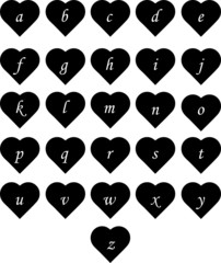 Heart Alphabet Lower