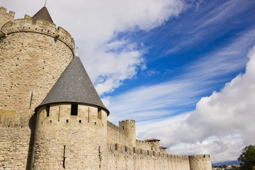 beautiful view of old town of Carcassonne in France