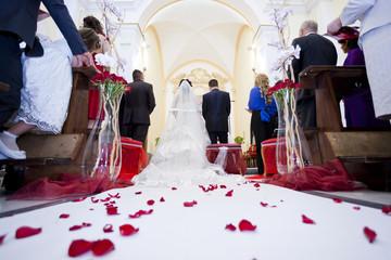 sposi rose rosse