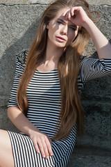 pretty girl whith long hair