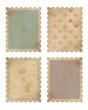 four vintage stamps