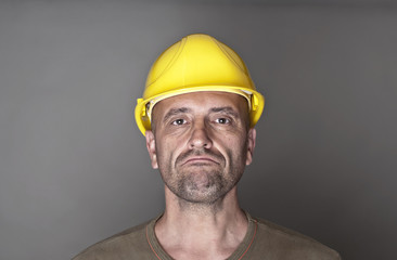 Unhappy, sceptical worker