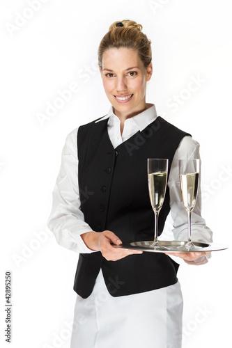 Kellnerin mit Chamapgner