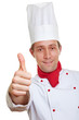 Koch hält Daumen hoch