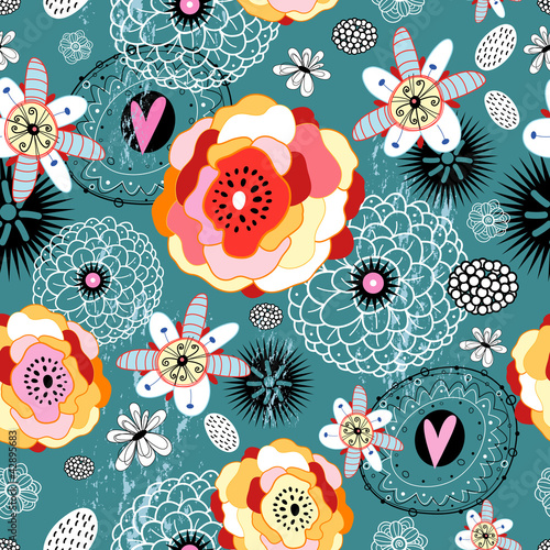 Cotton fabric flower texture