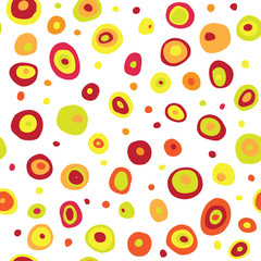 Seamless retro fifties circle design pattern