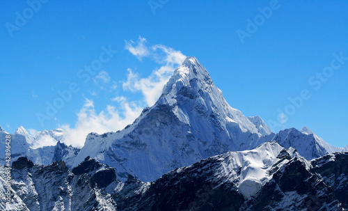 Poster Nepal Nepal, Everest Region, Mt. Ama Dablam