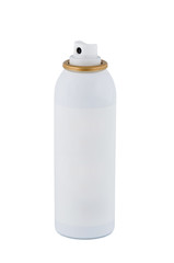 Bottle of spray on white background.