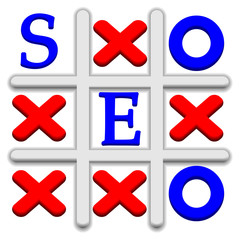 Vector SEO Tic Tac Toe background. Eps 10 illustration