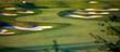 Leinwandbild Motiv Idyllic Golf Course Hole Scene