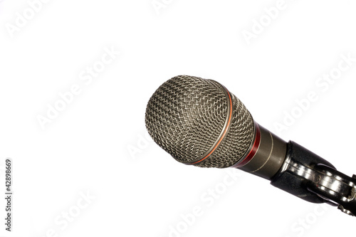 Microphone in Use for Communication