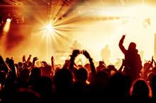 acclamations de la foule au concert