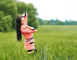 Beautiful girl posing outdoors