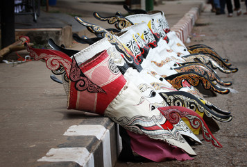 Ghost Dance mask art of Thailand