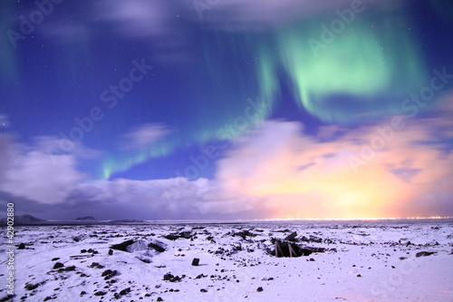 Staande foto Scandinavië Nordlicht auf Island